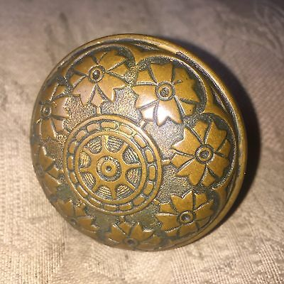 Antique Victorian Hopkin & Dickinson Vernacular Solid Heavy Brass Door Knob. #B