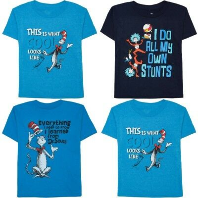 Boys Girls T Shirt 4/5 6/7 Dr Seuss Cat in the Hat Birthday Read Across America