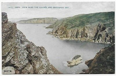 Vintage Postcard.  SARK. View Near The Coupee & Brecqhou Bay. Unused.  Ref:79156
