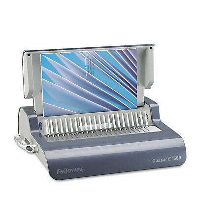 Fellowes Quasar Electric Comb Binding System 16 7/8 x 15 3/8 x 5 1/8 Metallic
