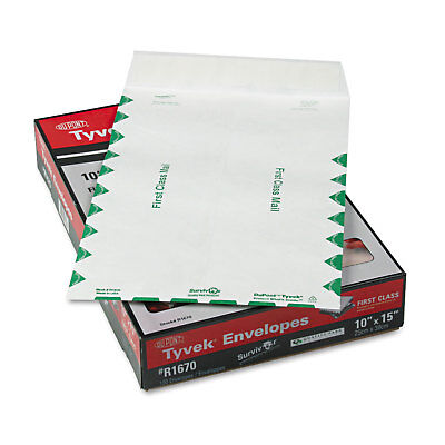 Survivor Tyvek USPS First Class Mailer 10 x 15 White 100/Box R1670