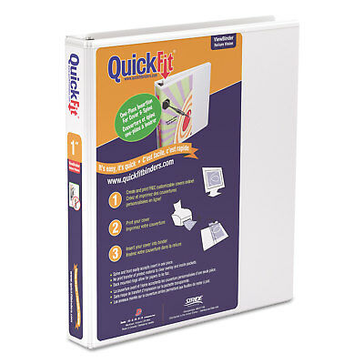 """Stride QuickFit D-Ring View Binder 1"""" Capacity 8 1/2 x 11 White 87010"""