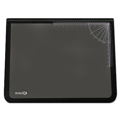 Artistic Lift-Top Pad Desktop Organizer with Clear Overlay 31 x 20 Black 41200S