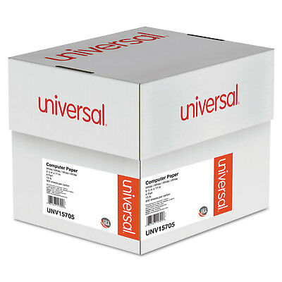 UNIVERSAL 4-Part Carbonless Paper 15lb 9-1/2 x 11 Perforated White 900 Sheets
