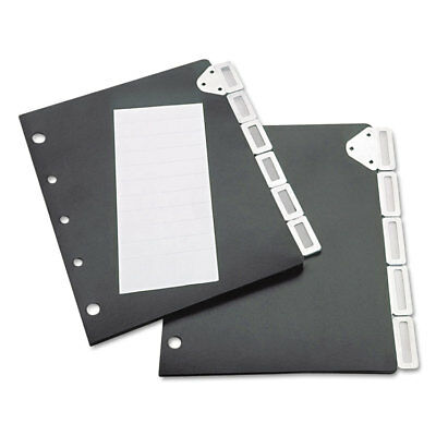 Tarifold Index Divider Set For Catalog Rack 5-Tab Set Black 50401