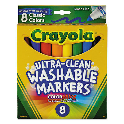 Crayola Washable Markers Broad Point Classic Colors 8/Pack 587808