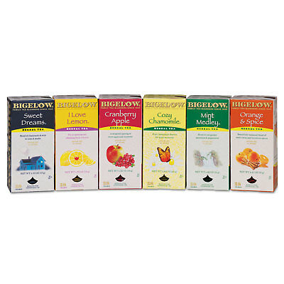 Bigelow Assorted Tea Packs Six Flavors 28/Box 168/Carton 16578