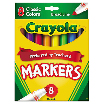 Crayola Non-Washable Markers Broad Point Classic Colors 8/Set 587708