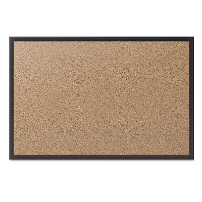 Quartet Classic Series Cork Bulletin Board 60x36 Black Aluminum Frame 2305B