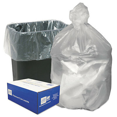 Ultra Plus High Density Can Liners 16gal 8 Microns 24 x 33 Natural 1000/Carton
