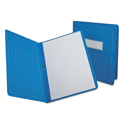 Oxford Report Cover 3 Fasteners Panel and Border Cover Letter Light Blue 25/Box