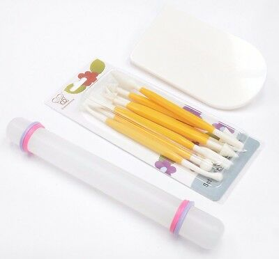 Cake Sugarcraft Tool Kit Smoother Icing Rollig Pin Modelling tools UK Seller