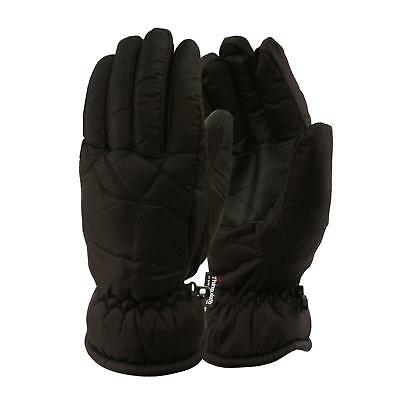 Men's Winter Waterproof Thinsulate 3M Thick Lined Warm Ski Snow Glove Black XL