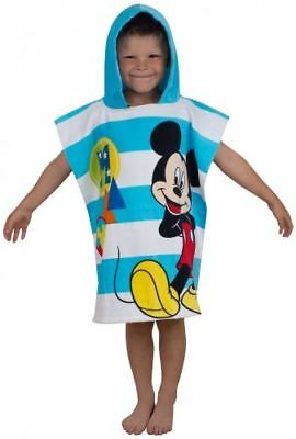 Official Disney Mickey Mouse Boo Summer Swimming Beach Hooded Towel Poncho