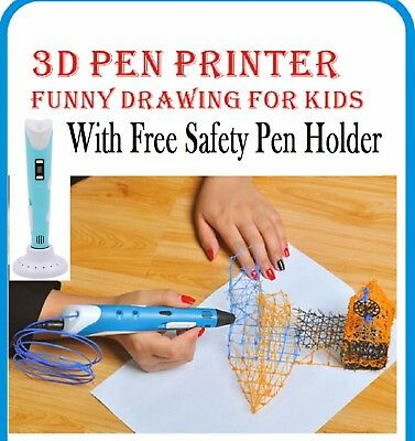 3D Printing Doodler Stereoscopic Pen Drawing Arts Crafts + 200m ABS Filaments