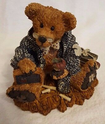 """The Boyds Bears Collection Resin Wilson the """"Perfesser"""" Vintage Bearstone Gift"""
