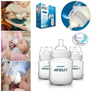 Philips Avent Anti-colic Baby Bottles New Set Clear, Mam 3 Piece Lot For Feeding