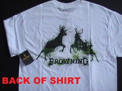 Mens L NEW 2 BROWNING T-SHIRTS Lot BUCKMARK The Best There Is NAVY BLUE B ORANGE