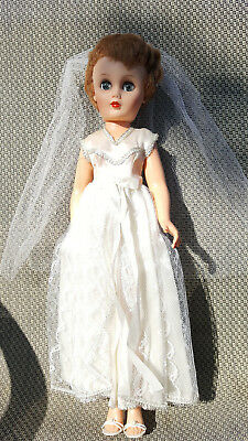 "Vintage Doll Bride 1950""s – All Original Hair, Clothing & Shoes."