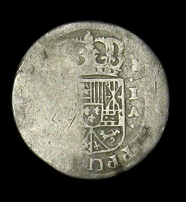 1717-1745 IA Spain 1 Real Philip V silver coin