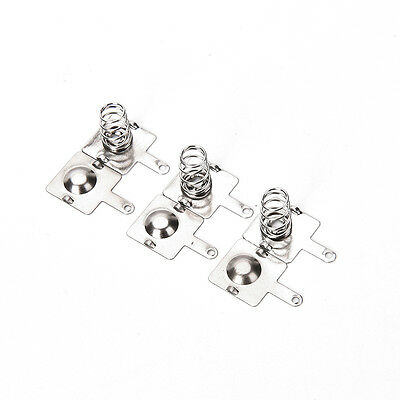 20Pcs Silver Tone Metal Spring Battery Contact Plate Set For AA AAA Batteries LJ