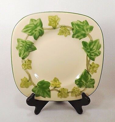 Franciscan Ivy 2 Ivy II Square Salad Luncheon Plate  England VGC-3 Available
