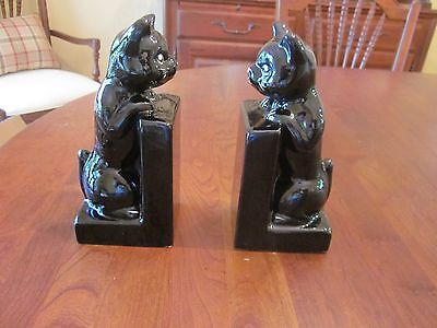Pair of Cat Bookends/Bank