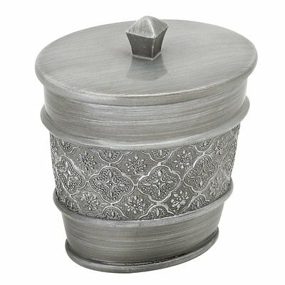 Zenith 7059697551 GATSBY COTTON BALL HOLDER ANTIQUE PEWTER Contenant-Ouate