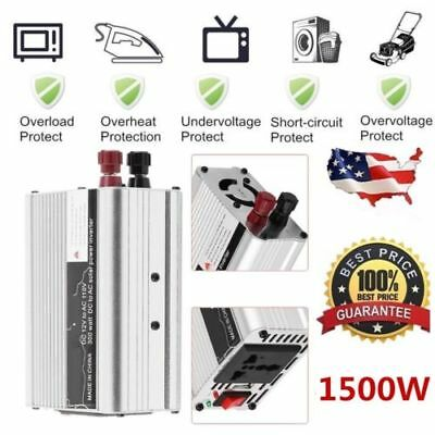 Solar Power Inverter 3000W Peak 12V DC To 110V AC Modified Wave Converter F&