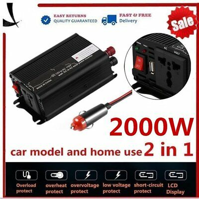 Peak Power 4000W DC 12V AC 110V Car Converter Power Inverter Electronic F&