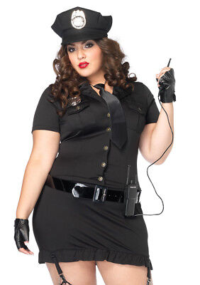 Leg Avenue Women's Sexy Cop Costume w/ hat, gloves, belt, tie & walkie talkie