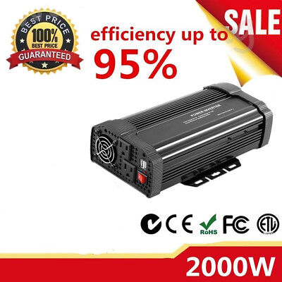 2000/4000WATT DC 12V AC 110V Car Power Inverter Charger Converter for D&