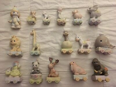 Precious Moments Birthday Train, Baby-6, 8-15 + Clown Store Display 16 Pieces