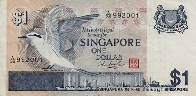 Two Singapore Currency Collectible Banknotes