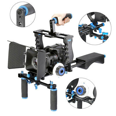 YaeCCC Film Movie Kit System Support Rig Video Cage for Canon Nikon Sony DSLR US