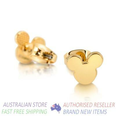 Disney Couture - Mickey Mouse Stud Earrings Yellow Gold BNIB Officially Licensed