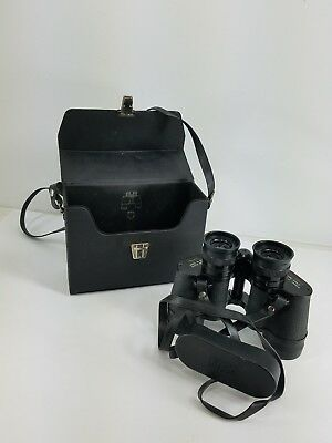 Vintage Sears Model 2511 Binoculars w Case 7 by 35 MM Wide View - Good Condition