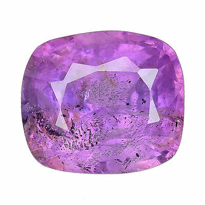 2.165 Cts  Attractive Unheated Untreated Purple Pink Natural Sapphire Cushion