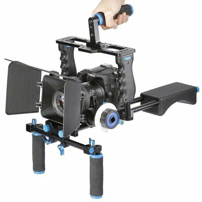 Aluminum Film Movie Kit System Support Rig Video Cage for Canon Nikon Sony DSLR