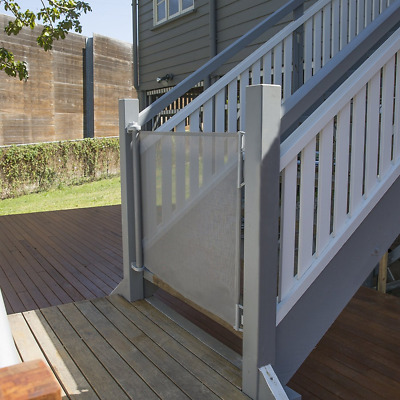 Outdoor Retractable Gate, Grey, Extra Wide/Large