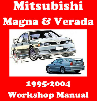 Mitsubishi Magna / Verada / Ralliart 1995 - 2004 Workshop Manual Cd - The Best!