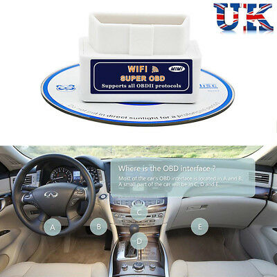 Super WiFi OBD2 Car Diagnostics Scanner Scan for iOS Android Windows iPhone iPad