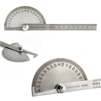 Stainless Steel 180 degree Protractor Angle Finder Arm Rotary Measuring Ruler ^