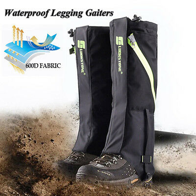Outdoor Waterproof Hiking Waling Gaiters Climbing Hunting Snow Leg Cover Wraps