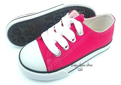 New toddler girls lace up black sneakers tennis canvas shoes size 6-10
