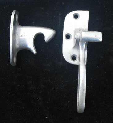 Antique Ice Box Latch Hardware - Nickel Plated Brass - Patent Date March 26 1901
