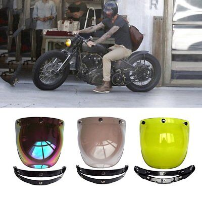 3-Snap Bubble Wind Shield Visor For Biltwell Gringo & Bonanza Motorcycle Helmet