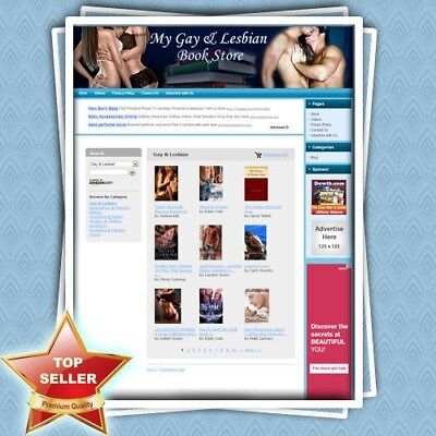 GAY & LESBIAN BOOK STORE - Easy-To-Operate Home-based Turnkey Website For Sale