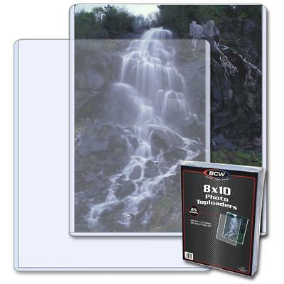 Pack of (25) BCW 8x10 Picture Photo Clear Hard plastic Top Loaders