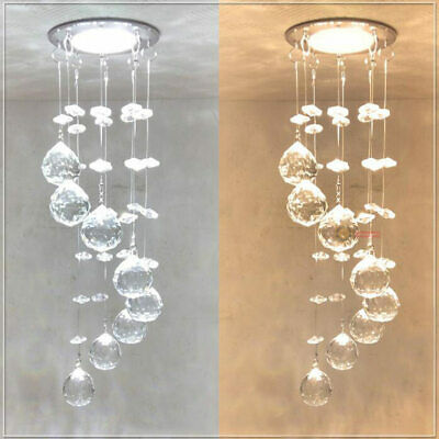 Hallway Crystal LED Ceiling Light Small Chandelier Ceiling Lamp Pendant Lighting